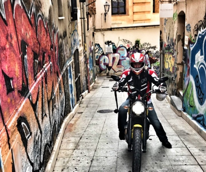 ARMIN ON BIKE on Scrambler Ducati | Photo: Private