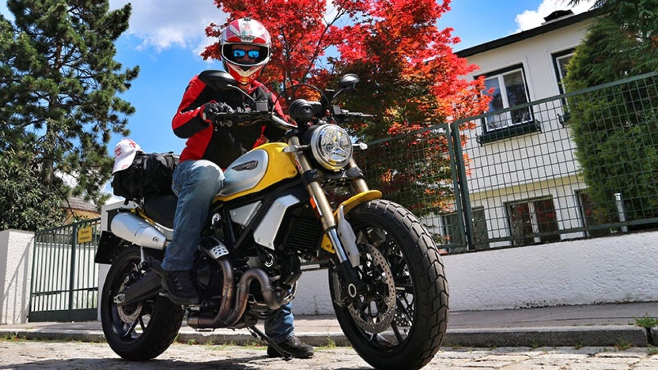 Armin on Scrambler Ducati 1100 | Photo: Armin Hoyer - arminonbike.com