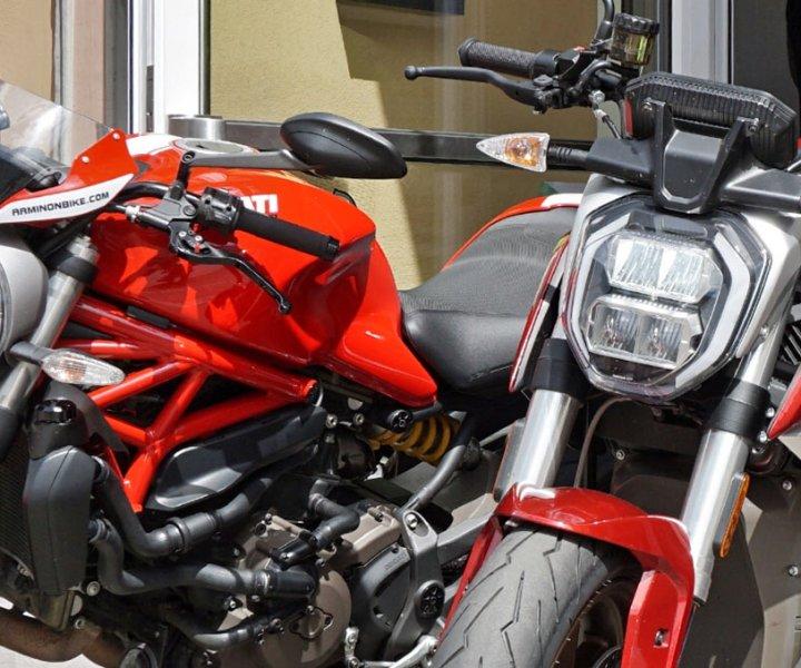 Ducati Monster 821 and Zero SR/F | Photo.: Armin Hoyer - arminonbike.com