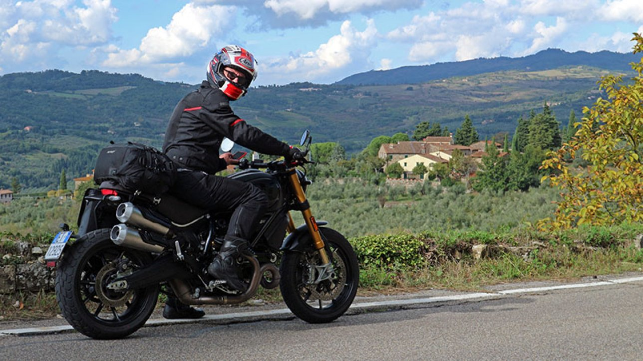 Armin on Ducati Scrambler 1100 Sport PRO | Photo: Armin Hoyer - arminonbike.com