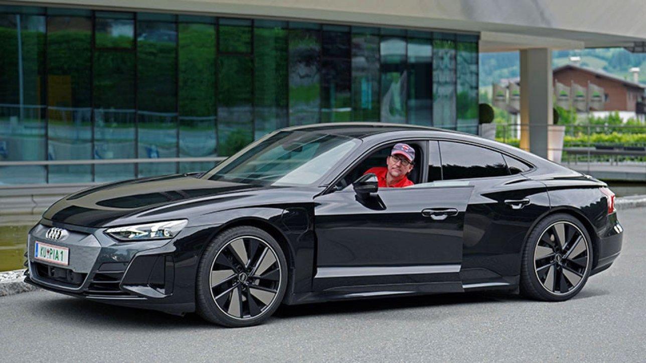 Armin in Audi e-tron GT quattro | Photo: Dagmar Berger