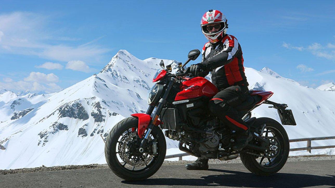 Armin on Ducati Monster Plus at Edelweissspitze | Photo: Armin Hoyer - arminonbike.com