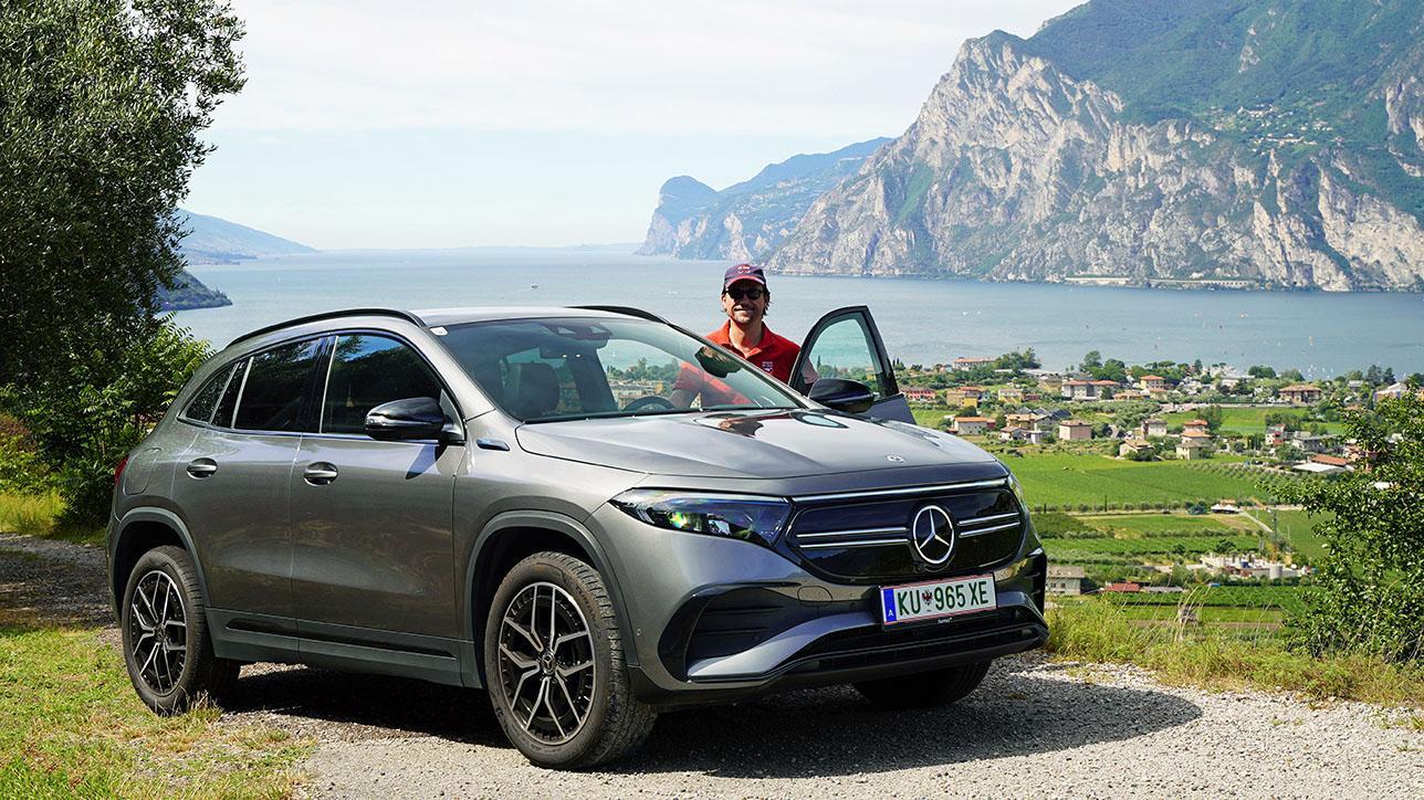 Mercedes-Benz EQA 250 in front of Lake Garda | Photo: Dagmar Berger